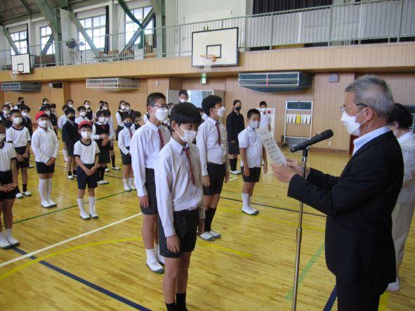 2021.10.18. 児童会 後期役員任命式 ウリマルイヤギ大会施賞